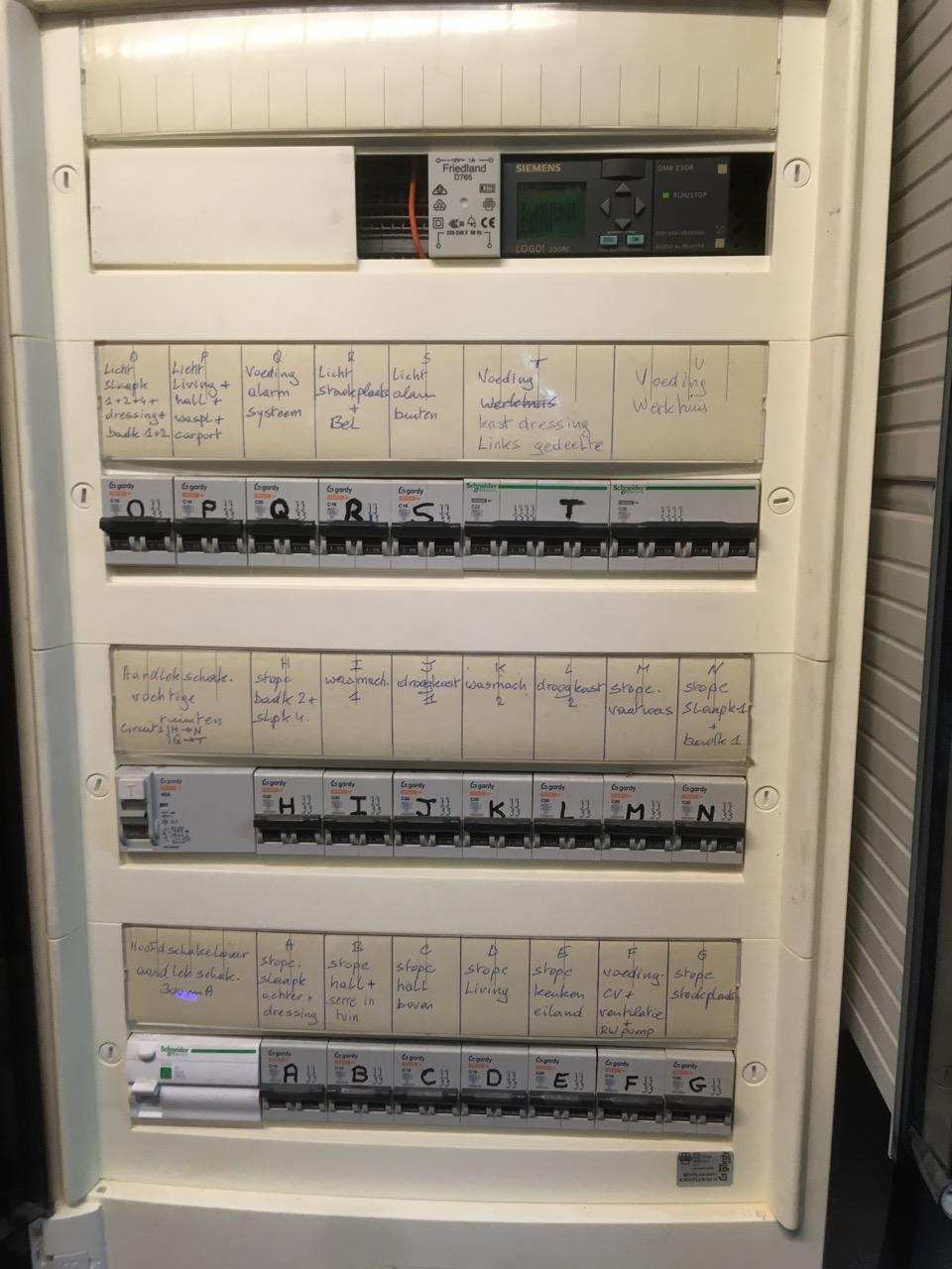 Elektriciteitskeuring, elektriciteitsschema